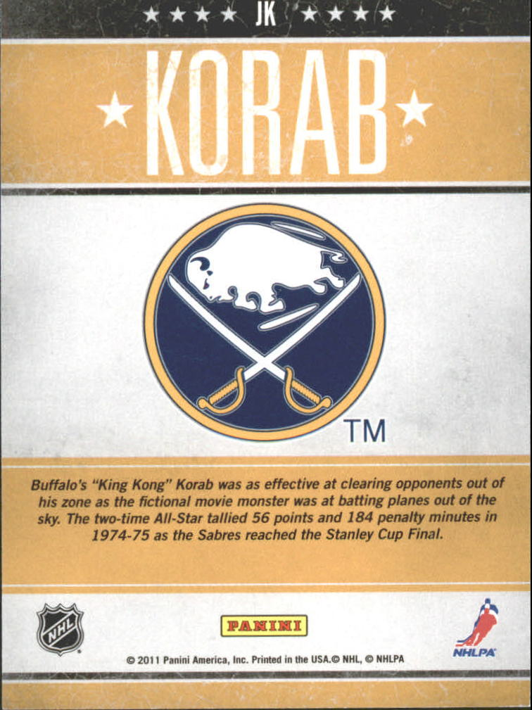 2010-11 Pinnacle Tough Times #JK Jerry Korab