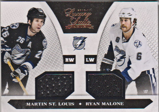 2010-11 Luxury Suite #94 Ryan Malone JSY/Martin St. Louis JSY