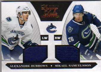2010-11 Luxury Suite #98 Alexandre Burrows JSY/Mikael Samuelsson JSY