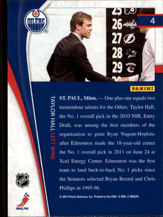 2011-12 Pinnacle #4 Taylor Hall