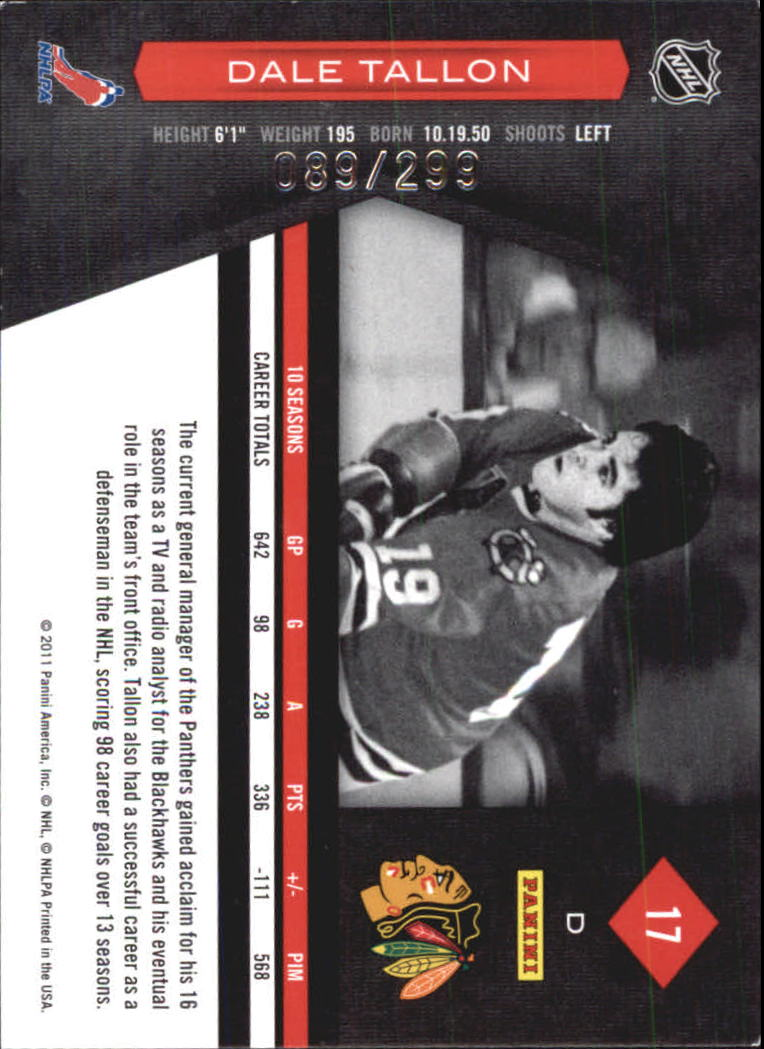 2011-12 Limited #17 Dale Tallon