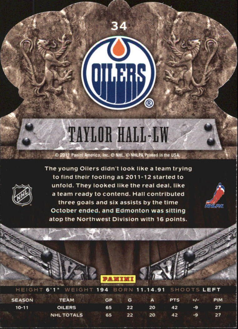 2011-12 Crown Royale #34 Taylor Hall