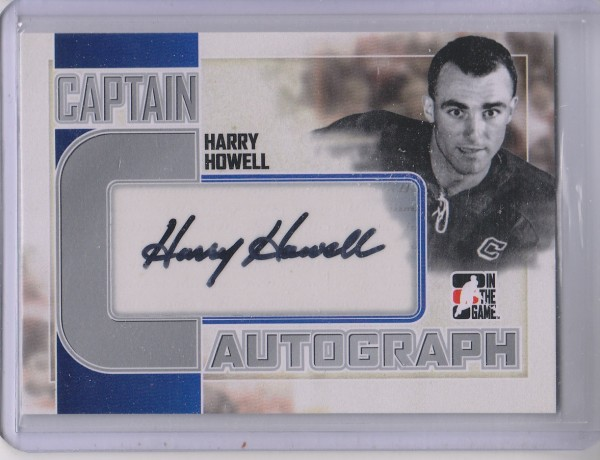 2011-12 ITG Captain-C Autographs Silver #AHH Harry Howell