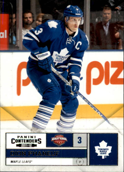 2011-12 Panini Contenders #3 Dion Phaneuf