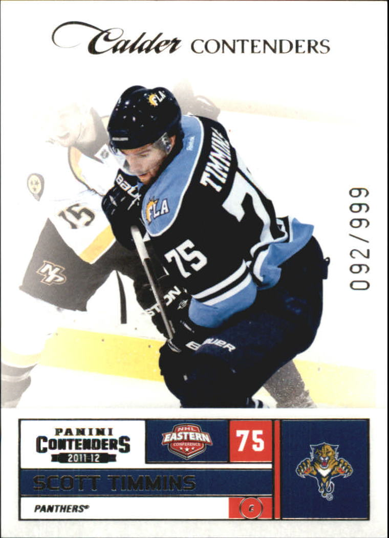 2011-12 Panini Contenders #171 Scott Timmins RC