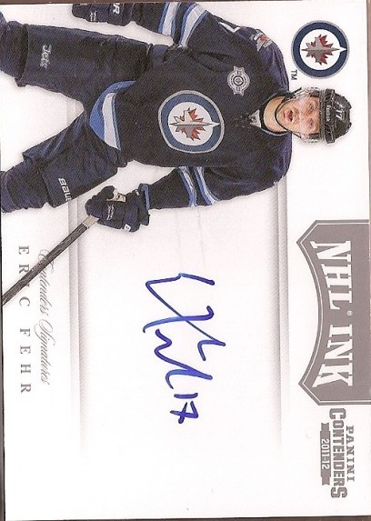2011-12 Panini Contenders NHL Ink #67 Eric Fehr