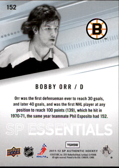 2011-12 SP Authentic #152 Bobby Orr ESS