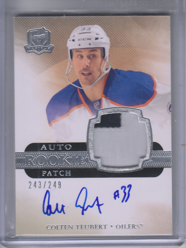 2011-12 The Cup #117 Colten Teubert JSY AU RC