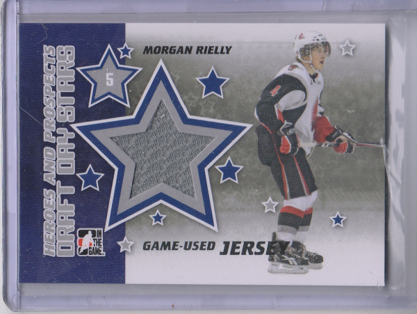 2011-12 ITG Heroes and Prospects Draft Day Stars Memorabilia Black #DDSJ05 Morgan Rielly