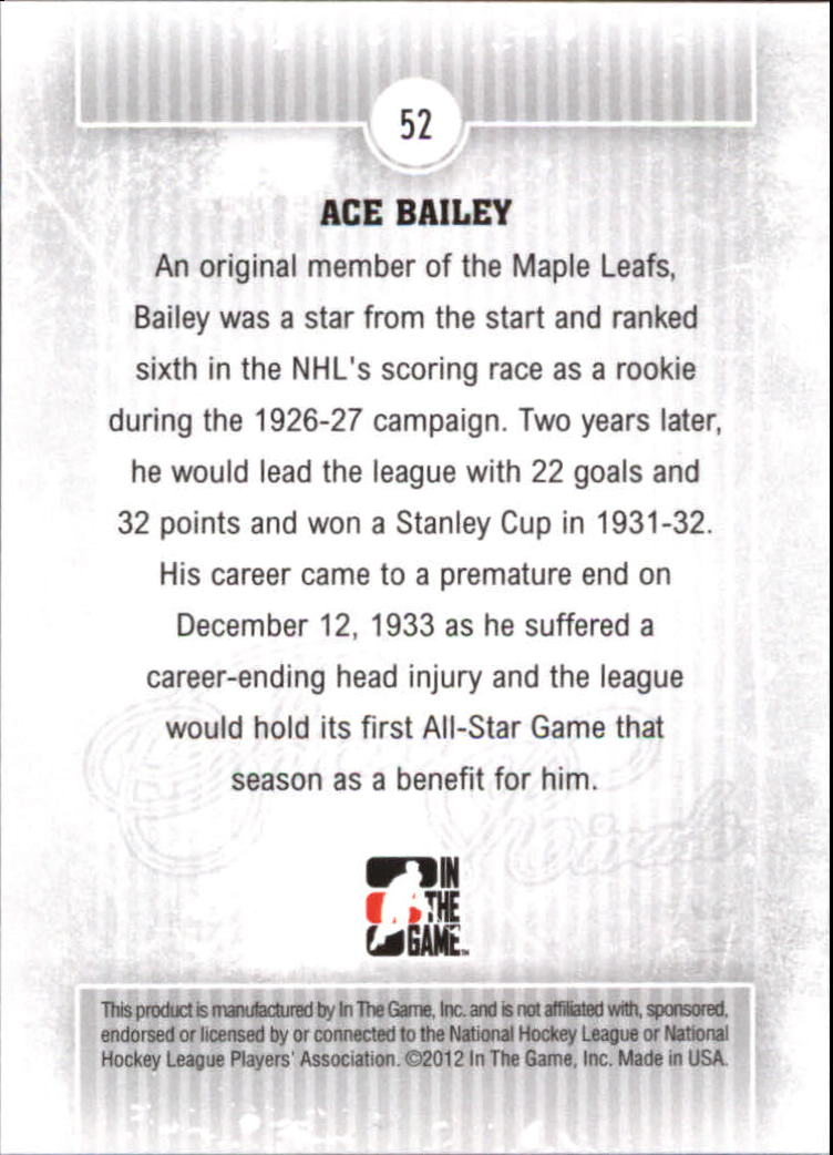 2012-13 ITG Forever Rivals #52 Ace Bailey
