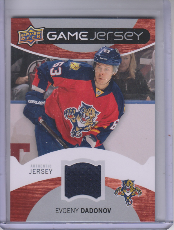 2012-13 Upper Deck Game Jerseys #GJED Evgeny Dadonov H