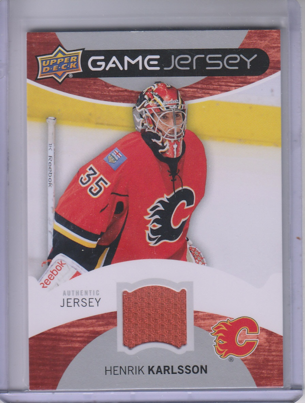 2012-13 Upper Deck Game Jerseys #GJHK Henrik Karlsson H