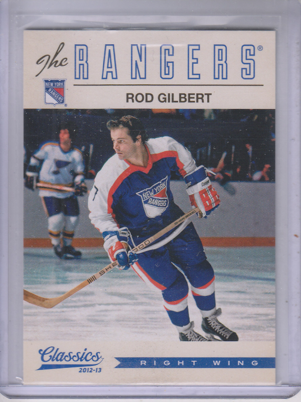 2012-13 Classics Signatures #78 Rod Gilbert