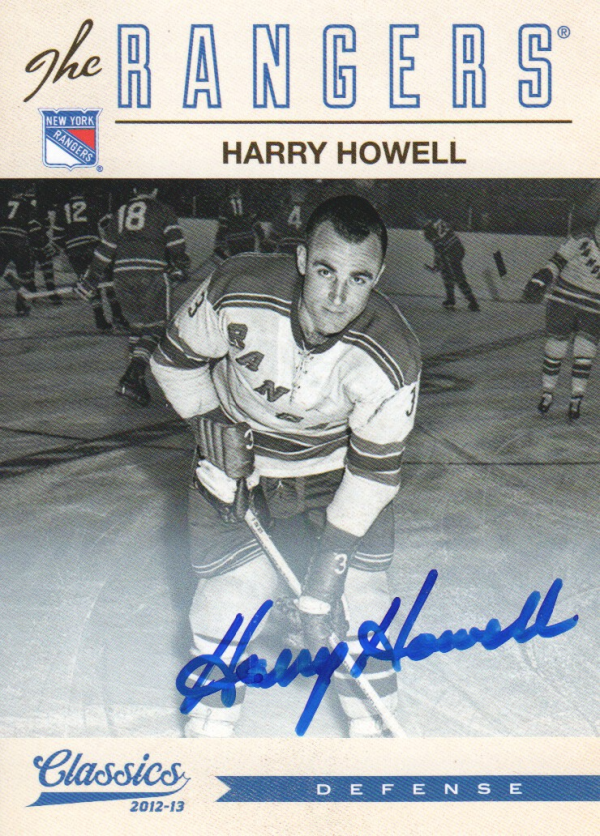 2012-13 Classics Signatures Autographs #144 Harry Howell