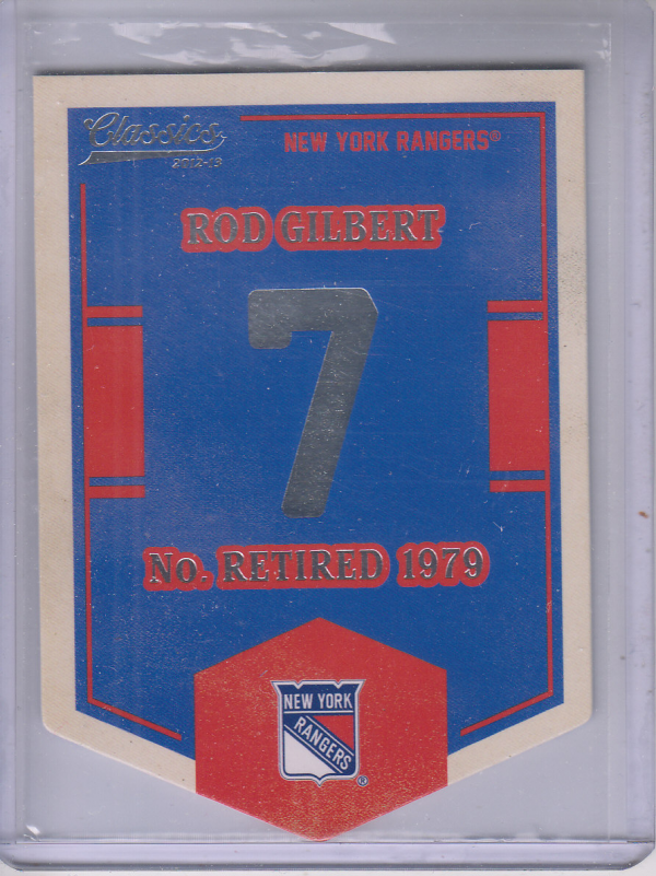 2012-13 Classics Signatures Banner Numbers #53 Rod Gilbert