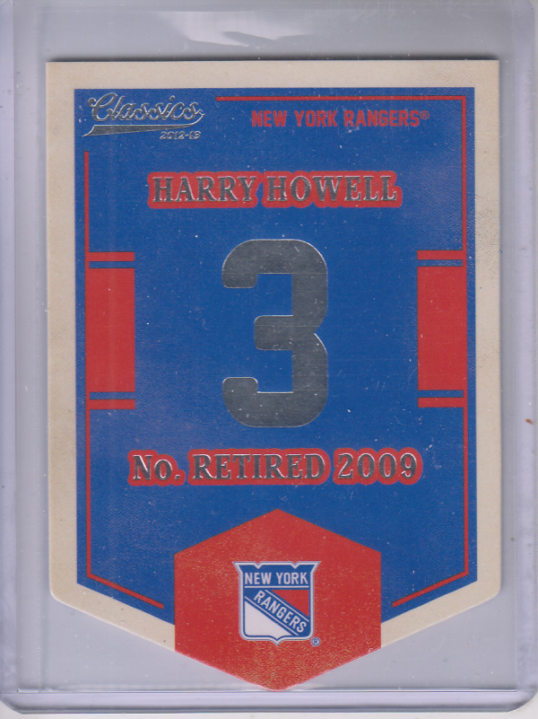 2012-13 Classics Signatures Banner Numbers #72 Harry Howell