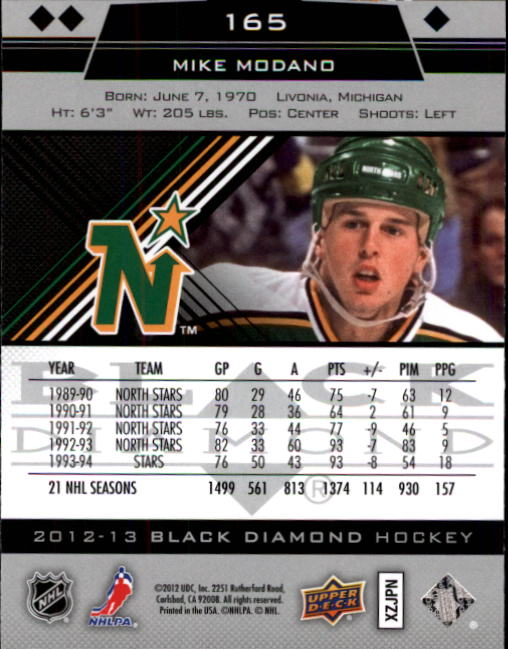 2012-13 Black Diamond #165 Mike Modano