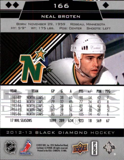 2012-13 Black Diamond #166 Neal Broten
