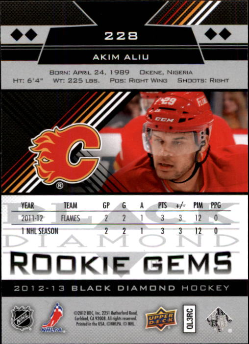 2012-13 Black Diamond #228 Akim Aliu RC