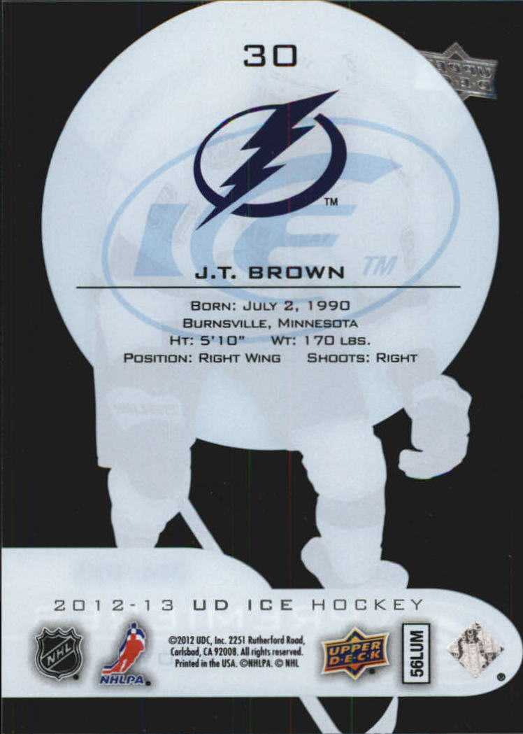 2012-13 Upper Deck Ice #30 J.T. Brown/999 RC