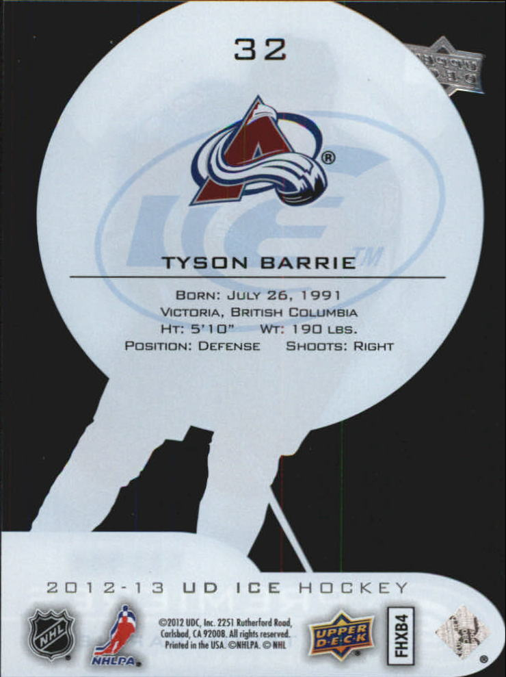 2012-13 Upper Deck Ice #32 Tyson Barrie/999 RC