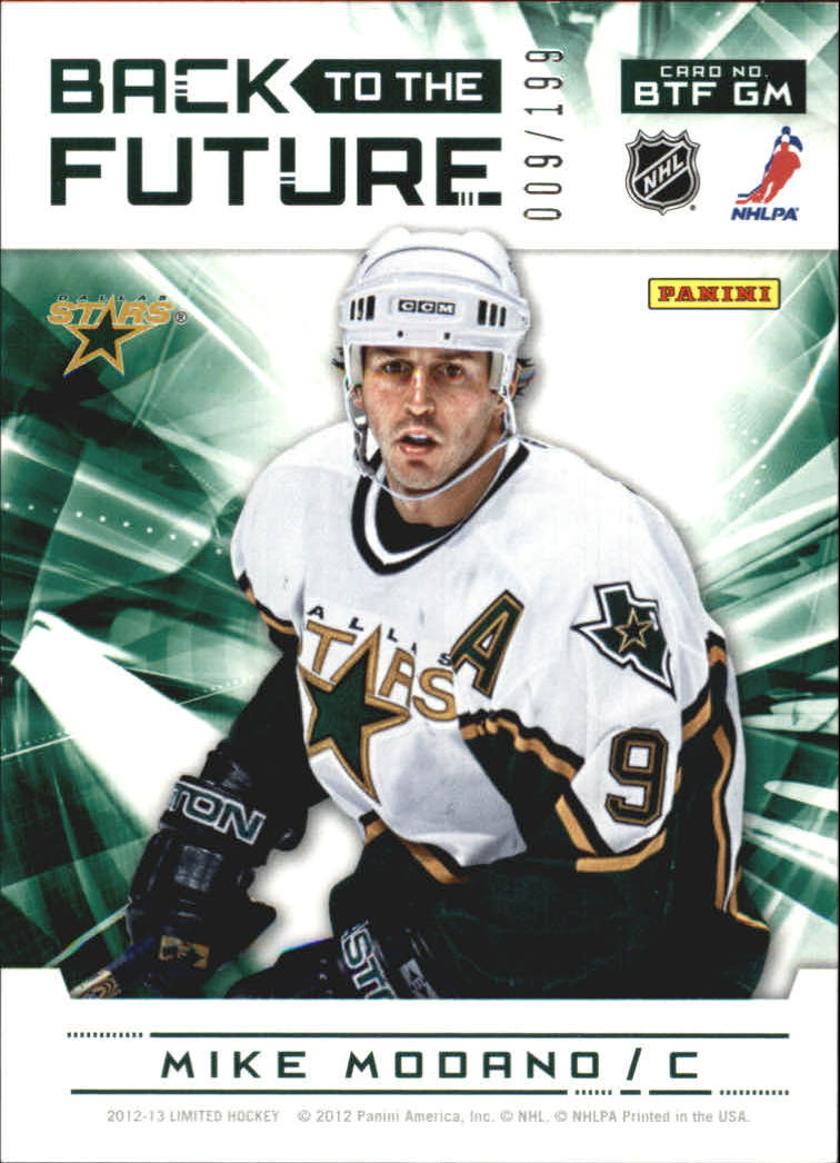 2012-13 Limited Back To The Future #BTFMG Mike Modano/Scott Glennie