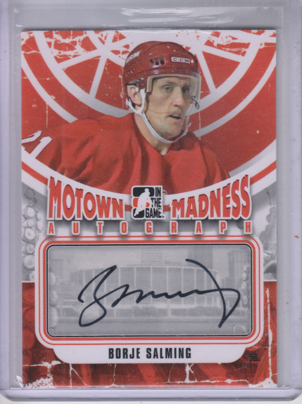 2012-13 ITG Motown Madness Autographs #ABSA Borje Salming SP