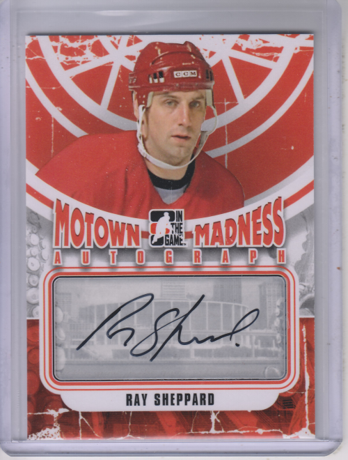 2012-13 ITG Motown Madness Autographs #ARS Ray Sheppard