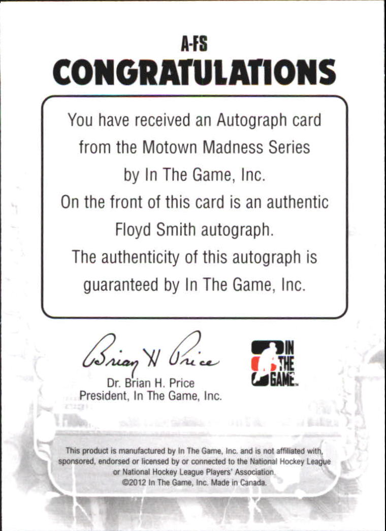 2012-13 ITG Motown Madness Autographs #AFS Floyd Smith
