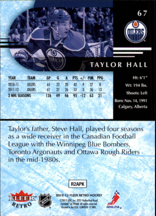 2012-13 Fleer Retro #67 Taylor Hall