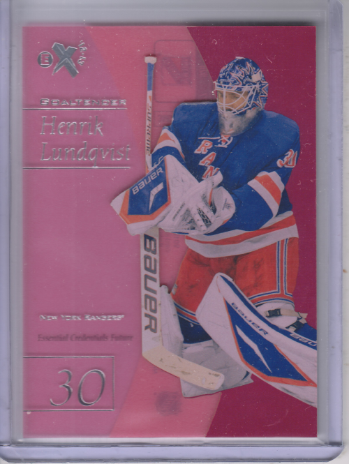 2012-13 Fleer Retro E-X 2001 Essential Credentials Future #12 Henrik Lundqvist/31