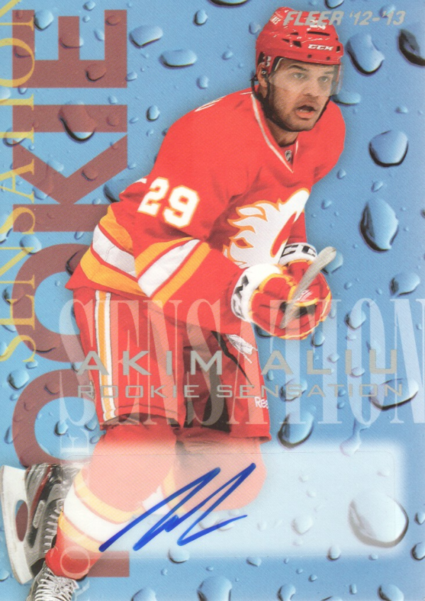 2012-13 Fleer Retro Rookie Sensations Autographs #1 Akim Aliu C