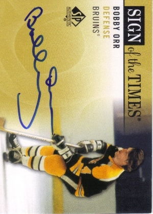 2012-13 SP Authentic Sign of the Times #SOTBO Bobby Orr A