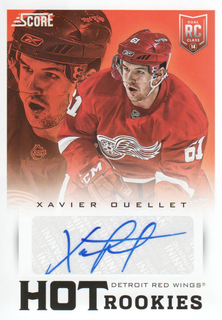 2013-14 Score Hot Rookie Signatures #710 Xavier Ouellet