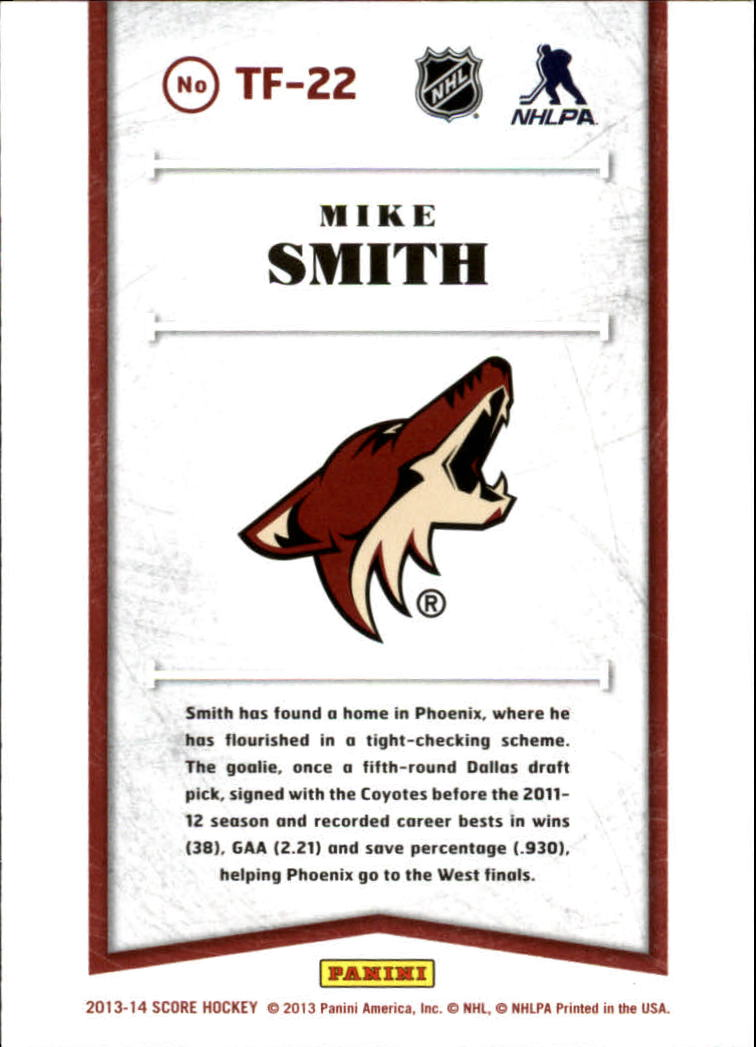2013-14 Score Franchise #22 Mike Smith