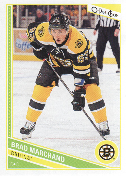 2013-14 O-Pee-Chee #186 Brad Marchand