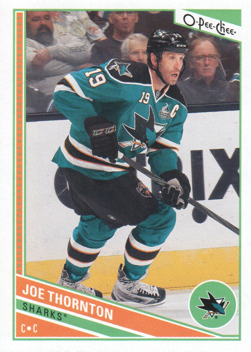 2013-14 O-Pee-Chee #387 Joe Thornton