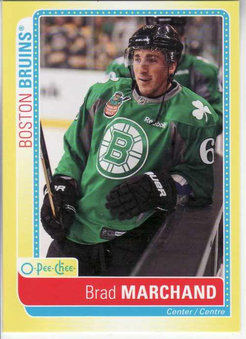 2013-14 O-Pee-Chee Stickers #SBM Brad Marchand