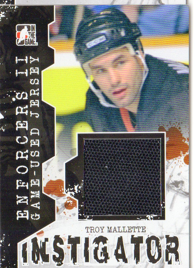 2013-14 ITG Enforcers Instigator Jerseys #IM13 Troy Mallette