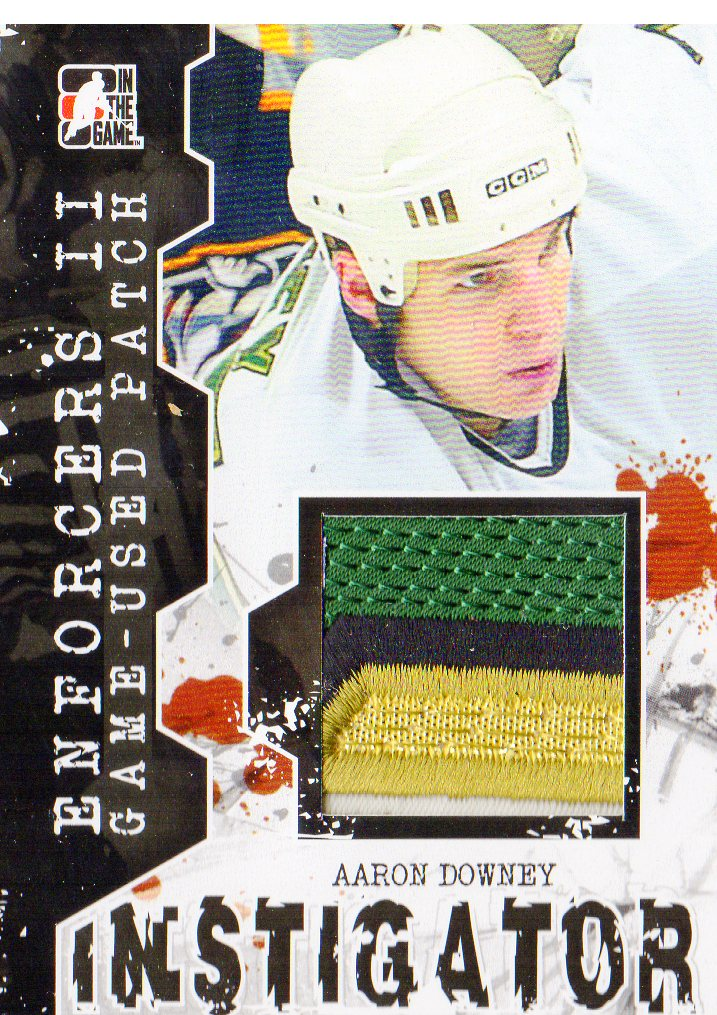 2013-14 ITG Enforcers Instigator Jerseys Patches #IM08 Aaron Downey