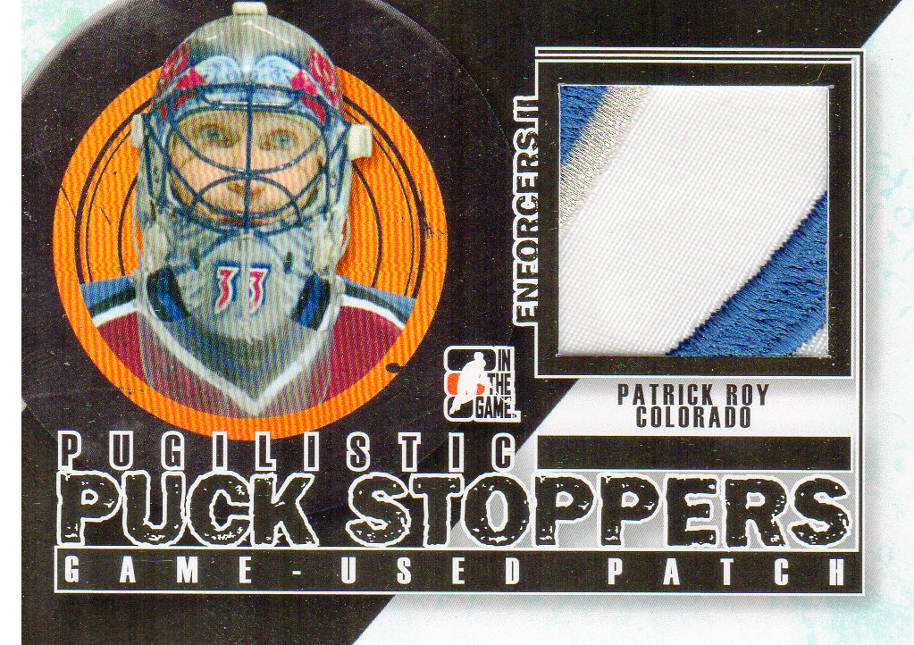 2013-14 ITG Enforcers Pugilistic Puck Stoppers Jerseys Patches #PPSM10 Patrick Roy