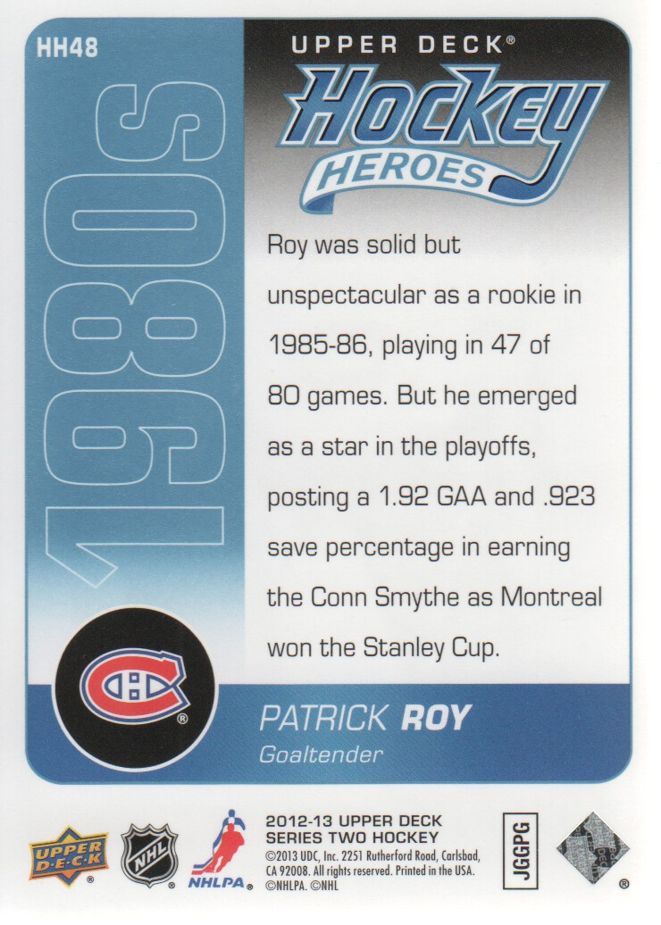 2013-14 Upper Deck Hockey Heroes #HH48 Patrick Roy