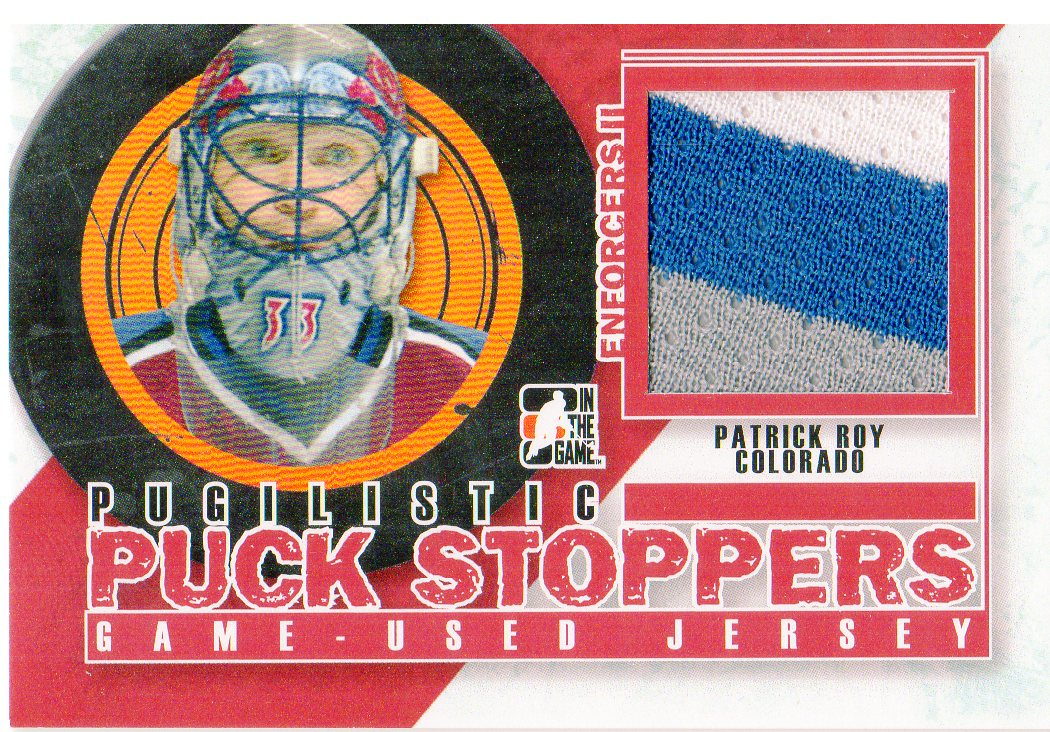 2013-14 ITG Enforcers Pugilistic Puck Stoppers Jerseys Red #PPSM10 Patrick Roy