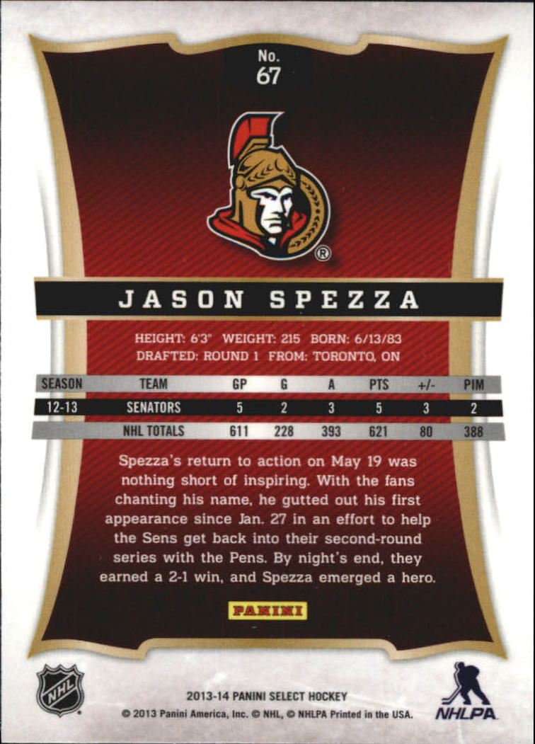 2013-14 Select #67 Jason Spezza