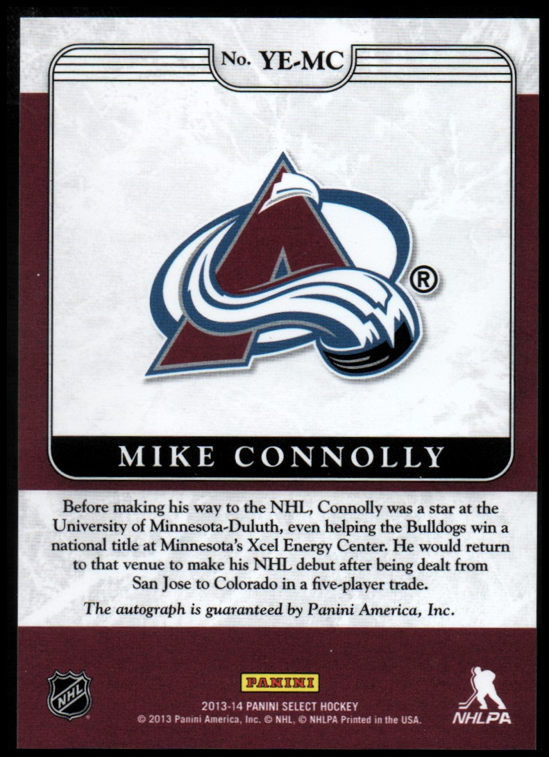 2013-14 Select Youth Explosion Autographs #YEMC Mike Connolly