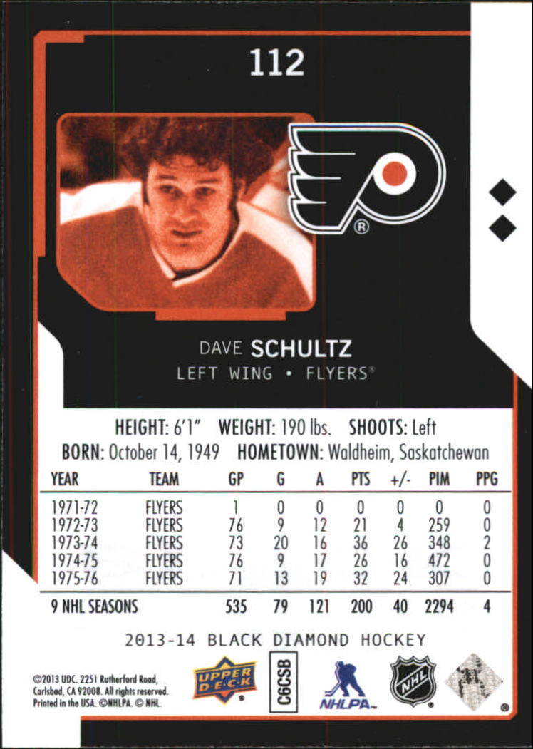 2013-14 Black Diamond #112 Dave Schultz