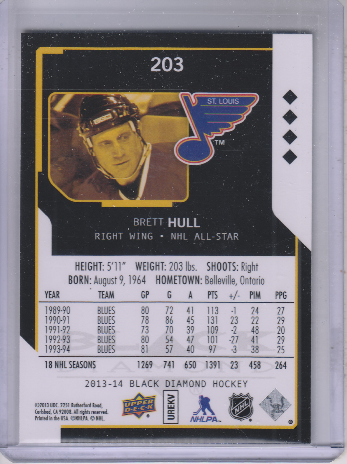 2013-14 Black Diamond #203 Brett Hull AS