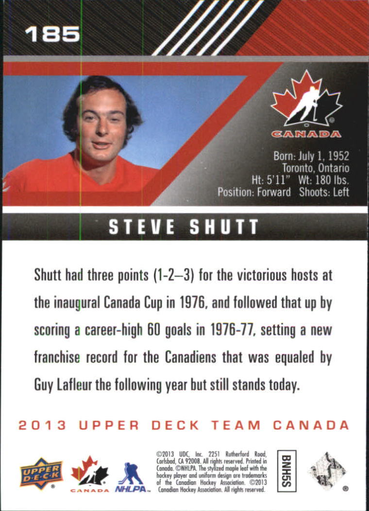 2013-14 Upper Deck Team Canada #185 Steve Shutt