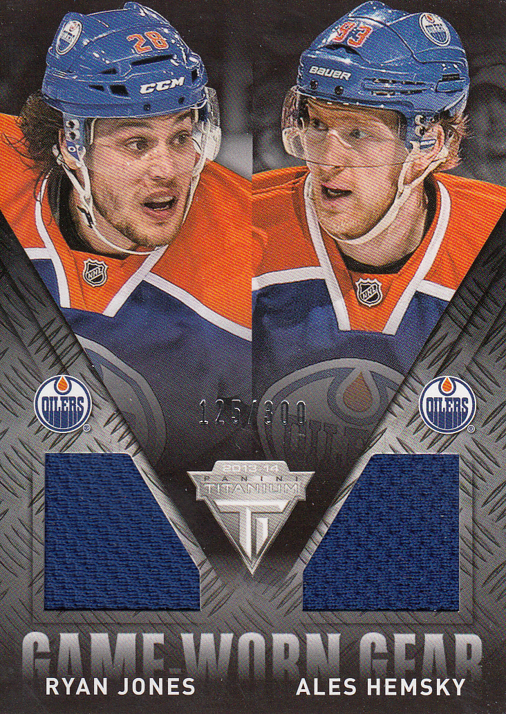 2013-14 Panini Titanium Game Worn Gear Dual Memorabilia #GDJH Ryan Jones/Ales Hemsky/300