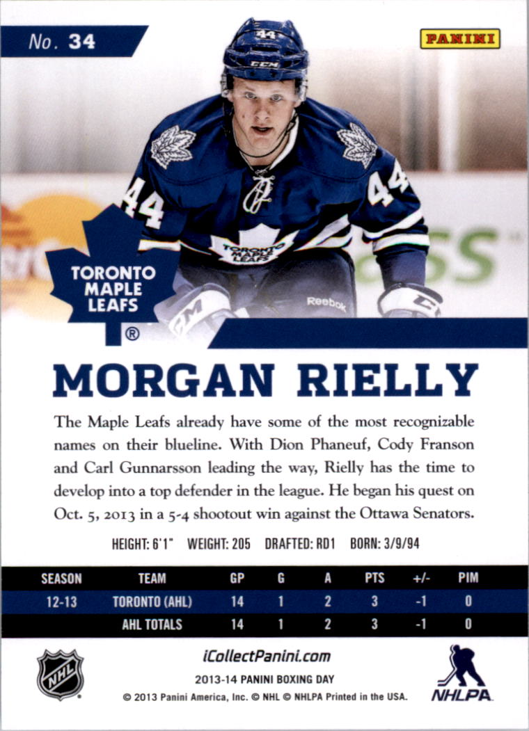 2013-14 Absolute #34 Morgan Rielly